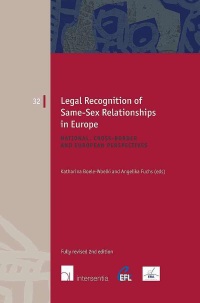 Legal recognition of same-sex relationships in Europe. 9781780680453