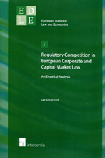 Regulatory competition in european corporate and capital market Law. 9781780680460