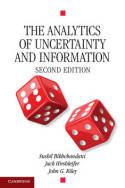 The analytics of uncertainty and information. 9780521541961