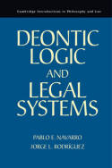 Deontic logic and legal systems. 9780521139908
