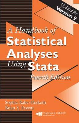 A handbook of statistical analyses using Stata. 9781584887560