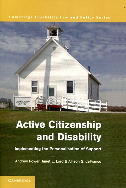 Active citizenship and disability. 9781107438682
