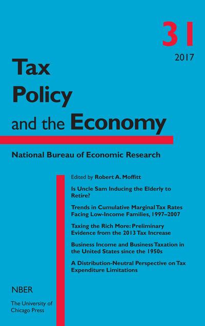 Tax policy and the Economy, Nº 31, 2017. 9780226539270