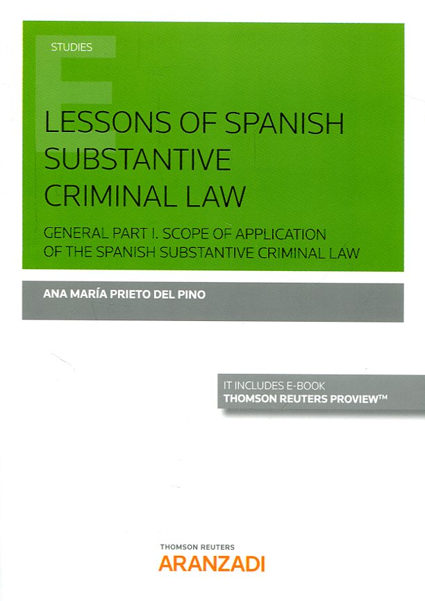 Lessons of spanish substantive criminal Law. 9788491350170