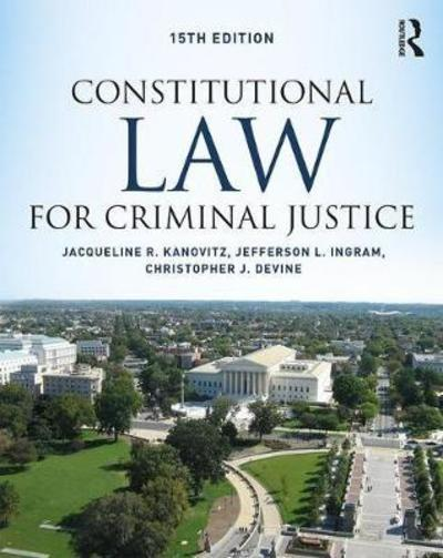 Constitutional Law for criminal justice. 9781138601819