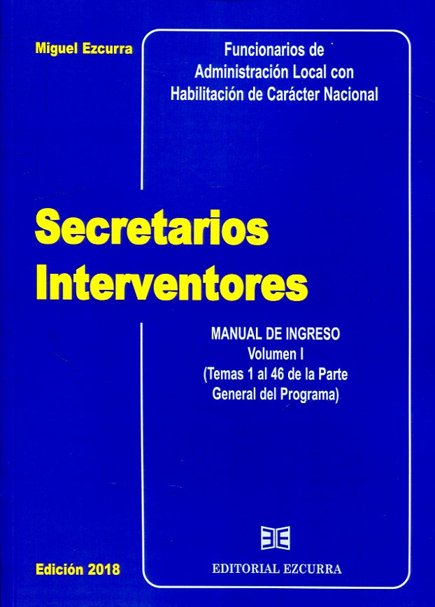 Secretarios Interventores. 9788416190423