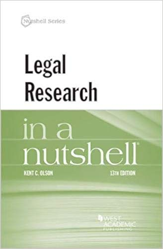 Legal research in a nutshell. 9781640208049