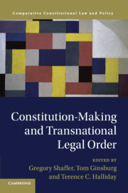 Constitution-making and transnational legal order. 9781108460989