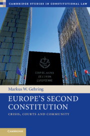Europe's second Constitution. 9781108487962