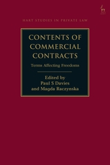 Contents of commercial contracts . 9781509930494