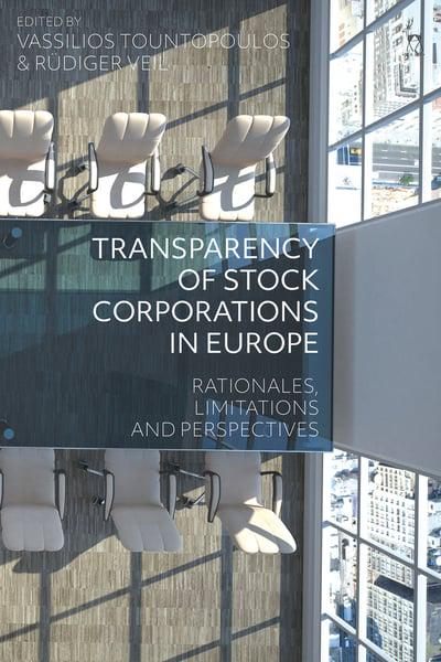 Transparency of stock corporations in Europe. 9781509925520