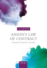Anson's law of contract. 9780198829973
