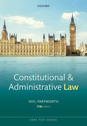 Constitutional and administrative law. 9780198847120