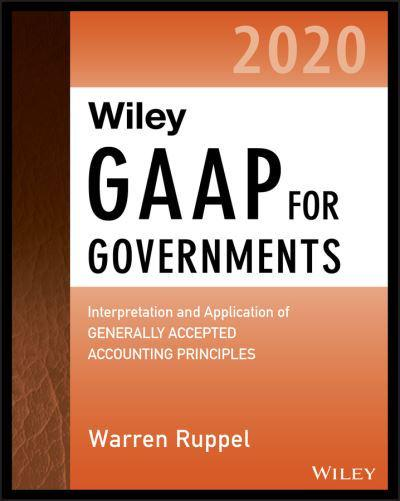 Wiley GAAP for governments 2020. 9781119596066