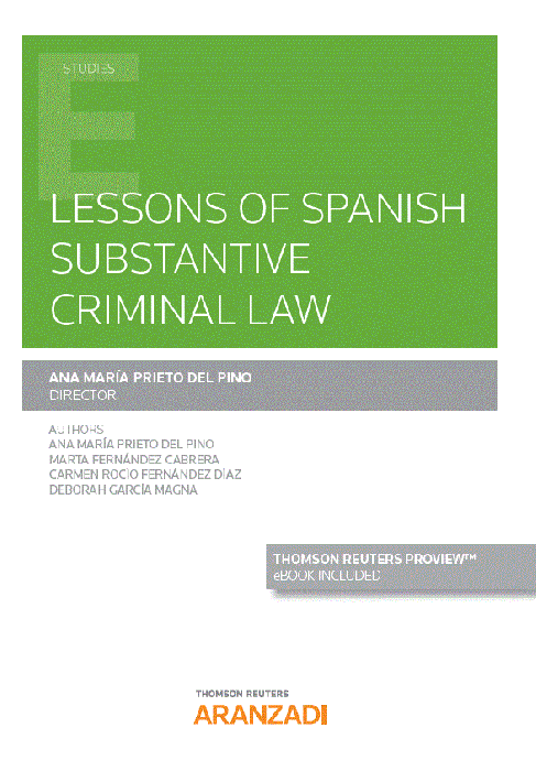 Lessons of Spanish substantive criminal law. 9788413087900